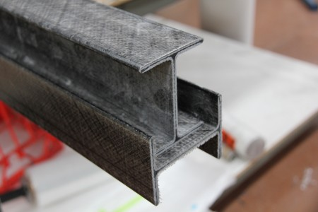Pultruded carbon fibre I-Beam